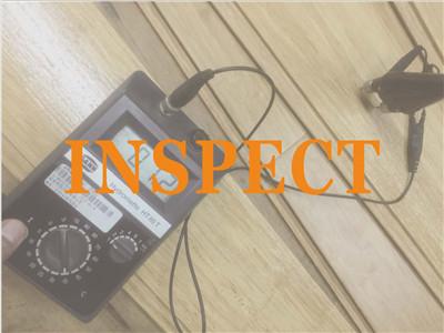 Inspect flooring goods
