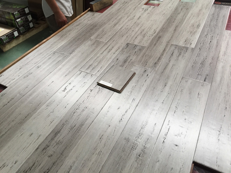 Hardwood floor inspection on-site