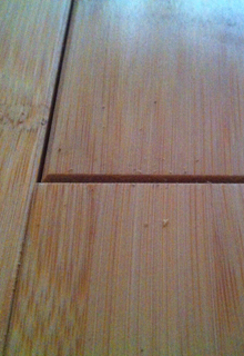 Unqualified assembled gap of problem bamboo flooring