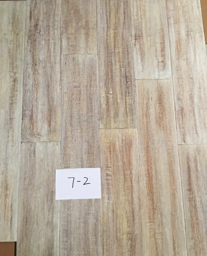Light Distressed hand scraped strand woven bamboo flooring