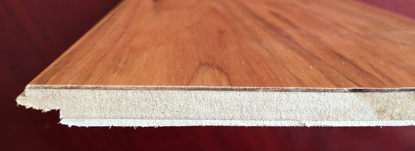 Structure of 3-ply HDF Engineered Eucalyptus Flooring