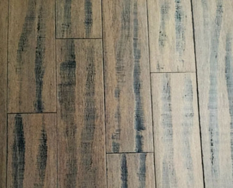 Display some distressed bamboo flooring
