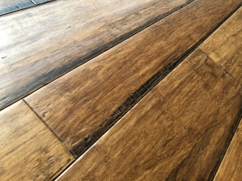 Bamboo Flooring - Stained brushed on edge