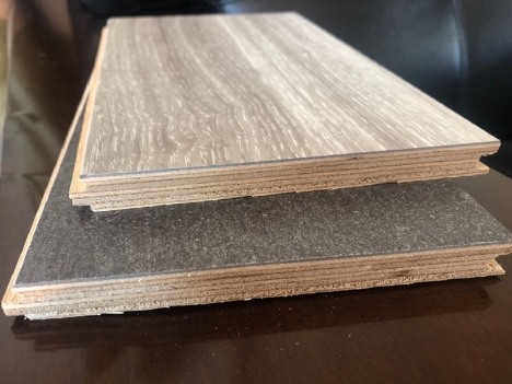 Vinyl Veneer Plastic Engineered Wood Flooring